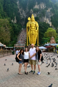 Batu Caves with some of the team
