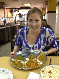 Amazing food in Little India... and lots of looks from the locals! Near Masjid Jamek area